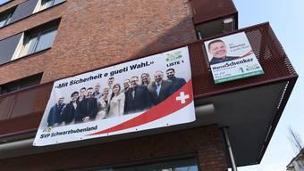 Auch wenn die SVP im Schwarzbubenland, wie hier in Breitenbach, aktiv auf sich aufmerksam machte, gelang es ihr nicht, einen dritten Kantonsratssitz zu gewinnen.