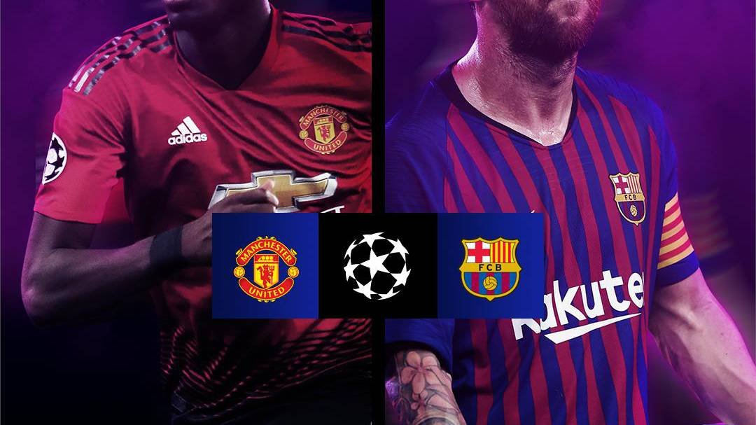 Manchester United - Barcelona als Hammerduell