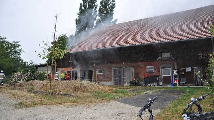 Dank raschem Löscheinsatz der Einsatzkräfte konnte das Feuer unter Kontrolle gebracht und gelöscht werden.