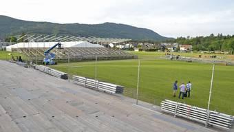 In Aarau Rohr entsteht eine Schwingerarena für 5500 Zuschauer.