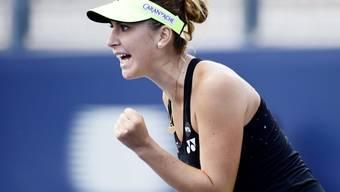 Für ihren Kampfgeist belohnt: Belinda Bencic steht in Toronto im Viertelfinal