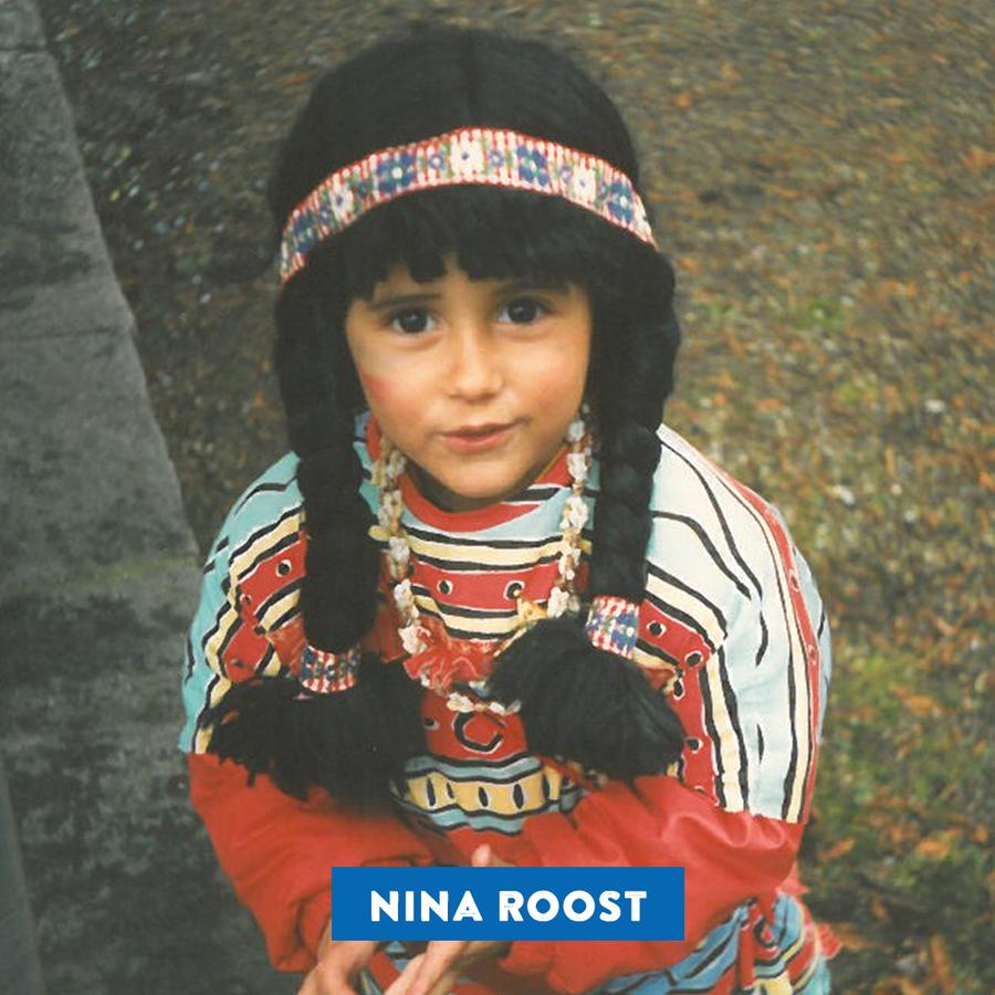 Nina Roost – als kleine Pocahontas. Herzig! (© Radio 24)