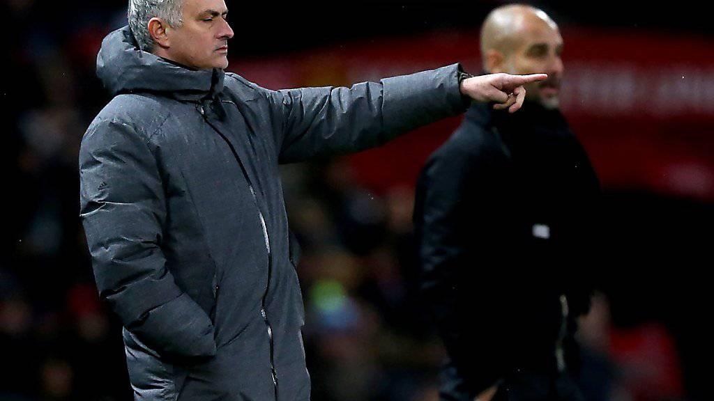 Für José Mourinho ging das Derby in Manchester nicht in die gewünschte Richtung.