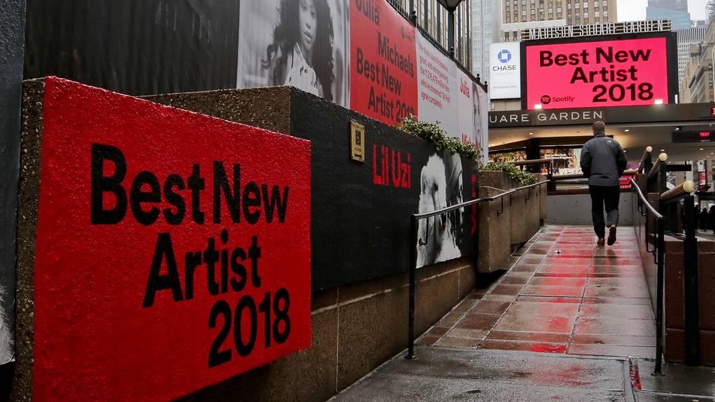 Ghetto mit Musikern vor den Grammys