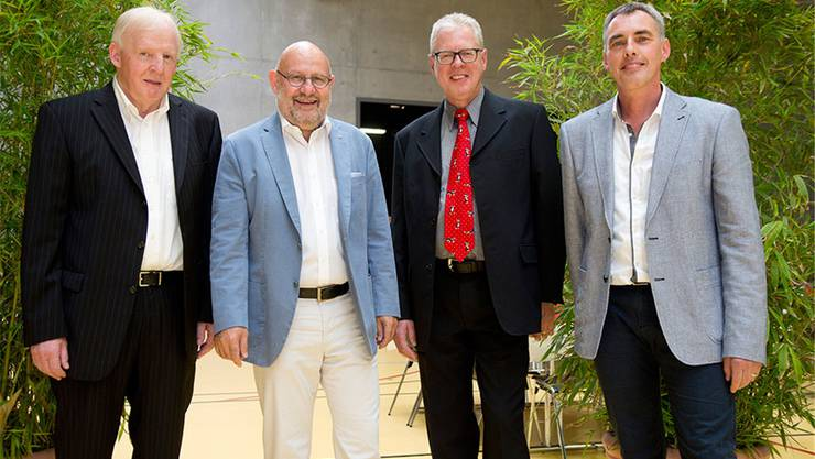 Elektro-Fürst Holding AG, Lostorf/Hägendorf (von links):Verwaltungsräte Isidor Felber, Max Berger, Adrian Fürst, Patrik Fürst.