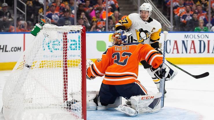 Sidney Crosby erzielt in der Verlängerung den Siegtreffer für Pittsburgh.