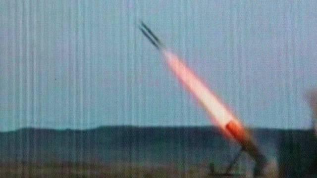 Eine Rakete des Abwehrsystems Iron Dome (Symbolbild)