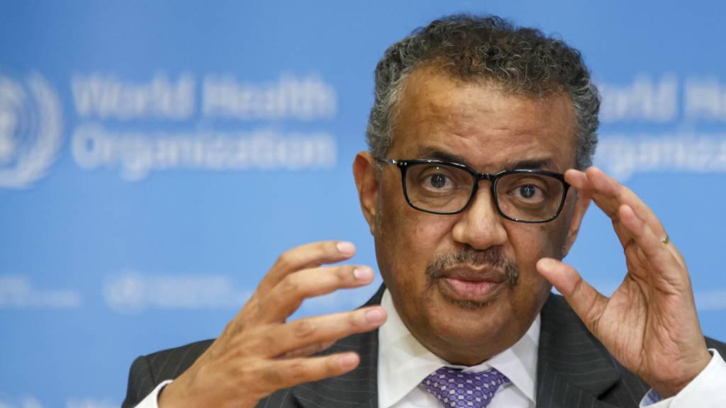 Der WHO-Generaldirektor Tedros Adhanom Ghebreyesus bezeichnet die Coronavirus-Epidemie als Pandemie. (Archivbild)