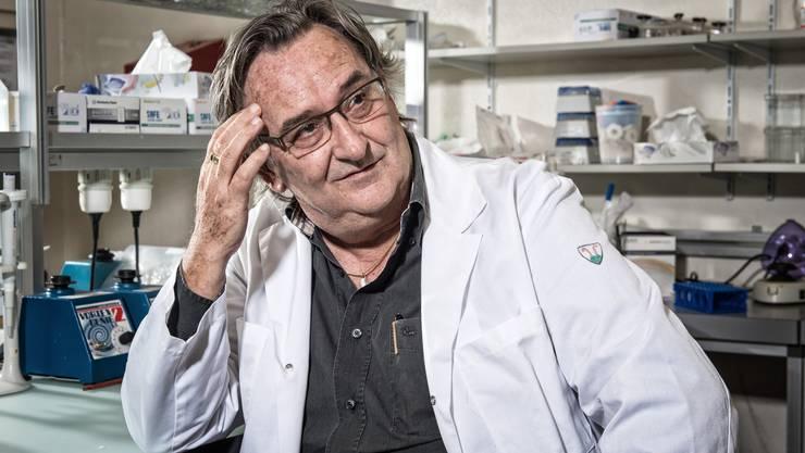 Professor Beda Stadler, als er noch Direktor am Institut für Immunologie der Universität Bern war.