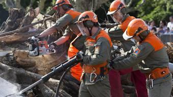 Zivilschützer bei der Arbeit. (Archiv)