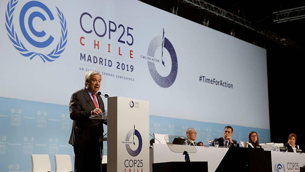 Guterres mahnt die Welt: «Krieg gegen die Natur» beenden