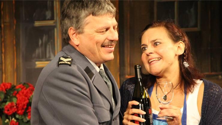 Dieses Jahr spielt Rolf Rubin vom Reinacher Theater Tandem einen Pfändungsbeamten, er war aber auch schon Polizist.