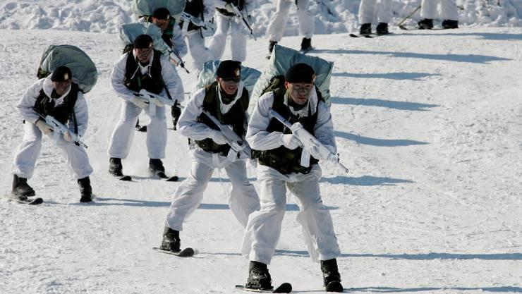 Alles fährt Ski – auch die südkoreanische Armee in Yongpyong.