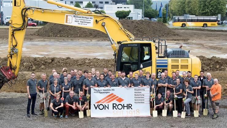 Die von Rohr Holzbau AG in Egerkingen feiert in diesem Jahr das 100-jährige Bestehen sowie den Start des Gewerbebaus.