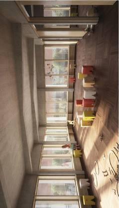 Unterrichtsraum der Tagesschule im Obergeschoss