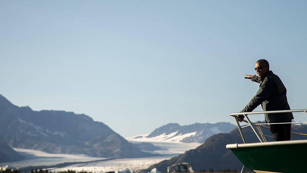 US-Präsident Barack Obama auf Gletschertour bei seinem Besuch in Alaska