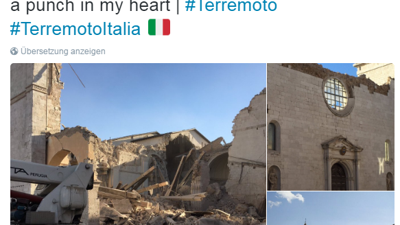 Erneut starkes Erdbeben in Mittelitalien