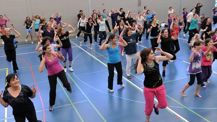 Viele Hägendörferinnen sammelten ihre Bewegungspunkte letztes Jahr beim Zumba-Fitness.