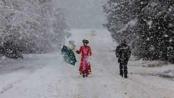 In Südafrika schneit es ungewöhnlich viel