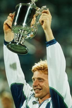 Drei Mal gewann er das Turnier von Wimbledon, hier 1989
