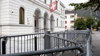 Das Bundesstrafgericht in Bellinzona urteilt im Fall eines mutmasslichen IS-Unterstützers aus dem Irak. (KEYSTONE)