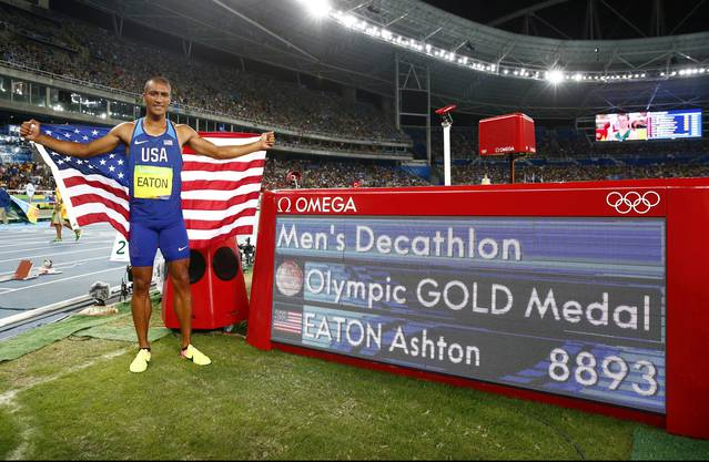 Ashton Eaton gewinnt Gold im Zehnkampf