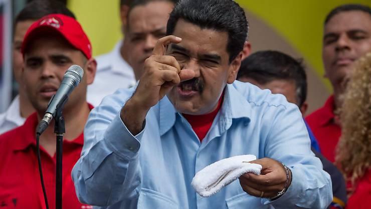 """Wird von den amerikanischen Staaten als """"Diktator"""" gesehen: Venezuelas Staatschef Nicolas Maduro. (Archivbild)"""