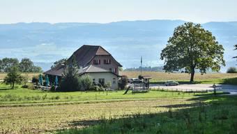 Der Landgasthof Guggibad, wo bis zum Brandfall 1865 das bekannte Heilbad stand. Toni Widmer