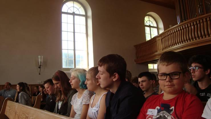Eröffnung in der Kirche Lüsslingen