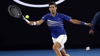Kaum ins Schwitzen gekommen: Novak Djokovic gab gegen Luca Pouille im Australian-Open-Halbfinal nur vier Games ab