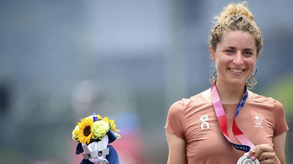 Holt bei ihrer Olympia-Premiere sogleich eine Medaille: Marlen Reusser mit Silber