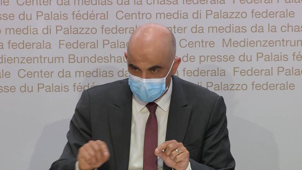 Bundesrat Berset: Lockerungsschritte eine «Frage des Vertrauens»