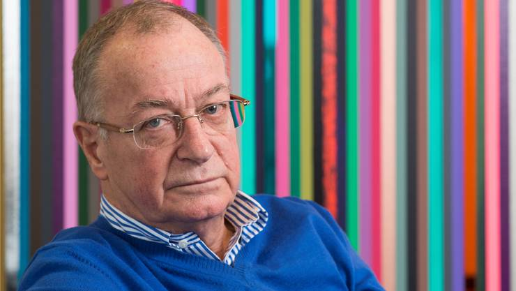 Frank A. Meyer nach dem Interview in der Lounge des Ringier-Pressehauses in Zürich.Alex Spichale