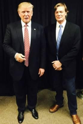 Donald Trump (l.) und Andrew Wakefield 2016.