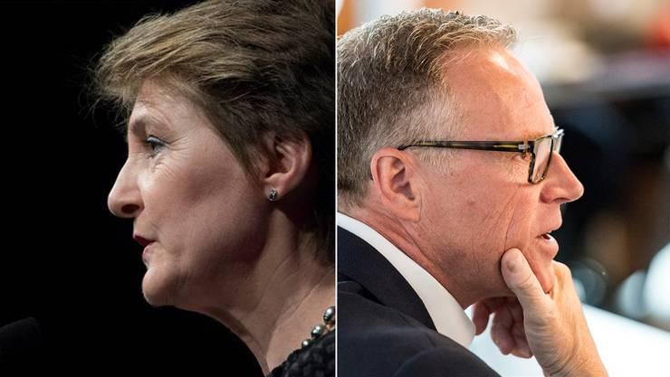 Simonetta Sommaruga geht als Verkehrsministerin auf Konfrontation zu Andreas Meyer, CEO der SBB.