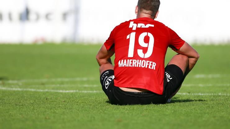 Stefan Maierhofer haut sich beim FC Aarau voll rein