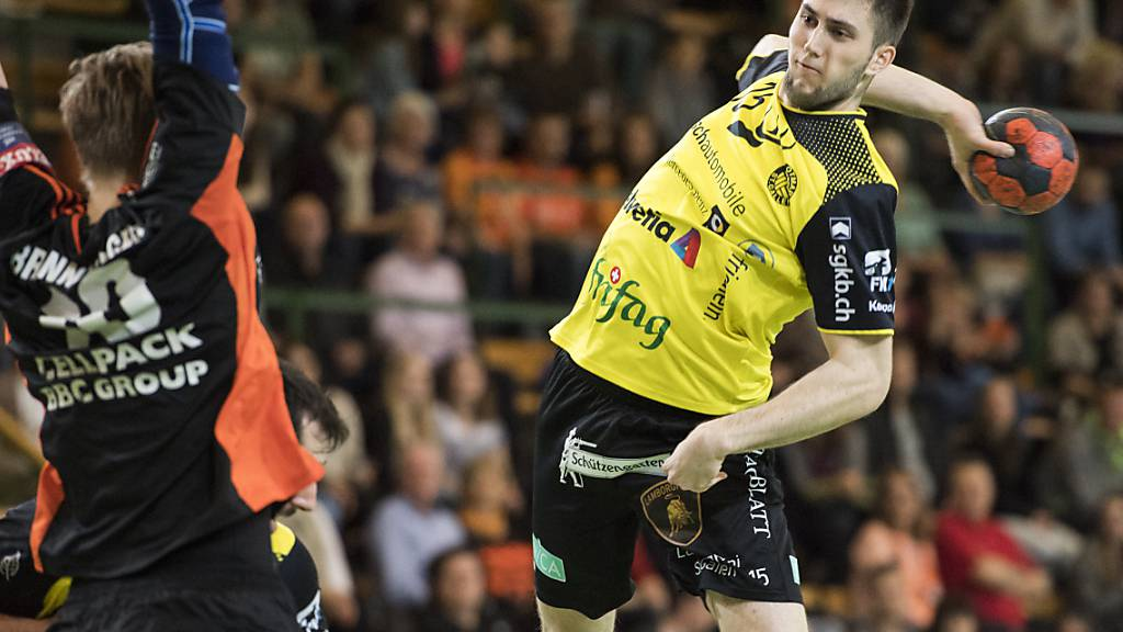 St. Otmars Dominik Jurilj erzielte elf Tore (Archivbild)