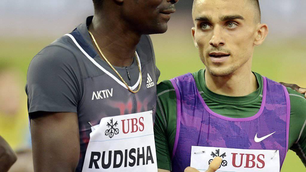 David Rudisha muss dem Sieger Adam Kszczot gratulieren