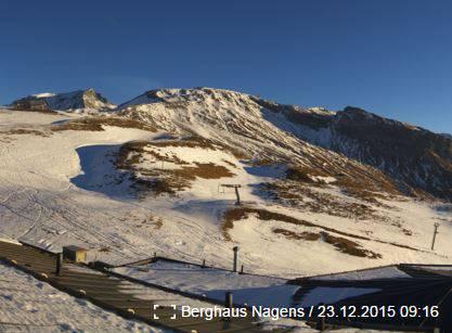 Die Sicht vom Berghaus Nagens in Laax.