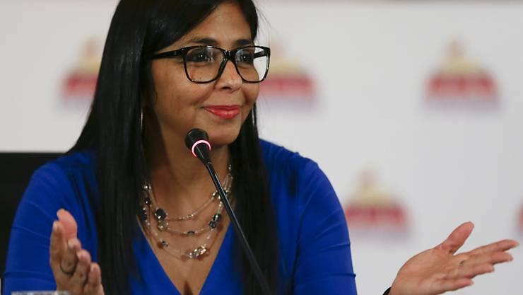 Delcy Rodríguez ist die neue Vize-Präsidentin von Venezuela.