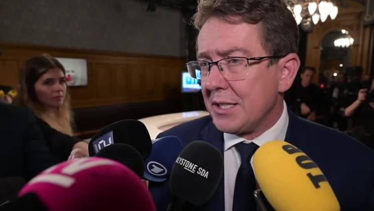 Ex-Parteipräsident Albert Rösti nach dem mageren Wahlausgang für die SVP im Oktober 2019.