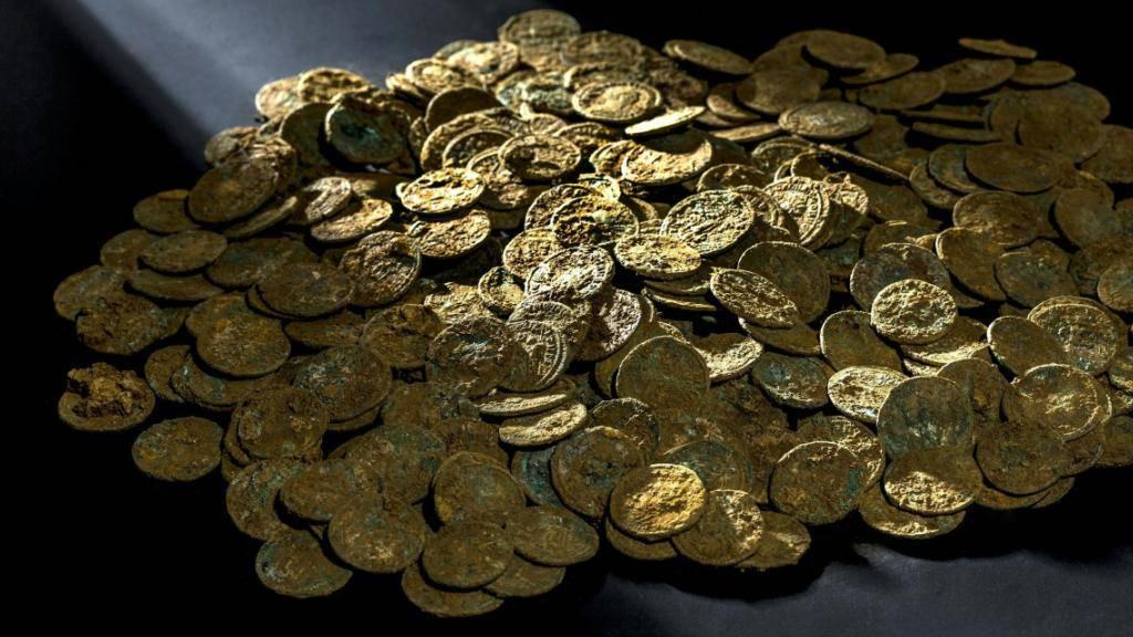 Erstmals im Museum zu sehen: Der im aargauischen Fricktal zufällig entdeckte Münzschatz aus der Römerzeit.