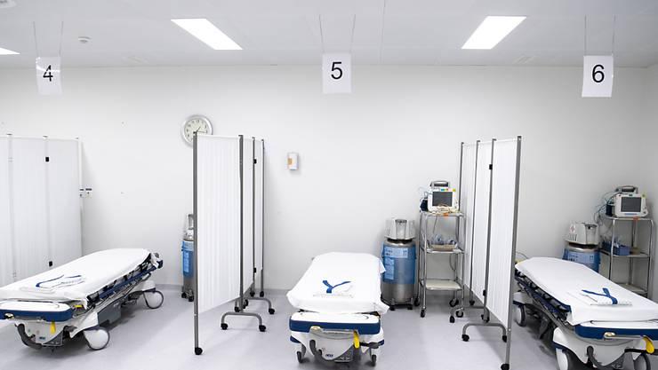 Das Medianalter der Hospitalisierten liegt in der Schweiz bei 70 Jahren. Blick ins Universitätsspital in Lausanne.
