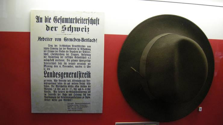 Der Streikaufruf – in Grenchen endete der Generalstreik mit dem Tod dreier junger Männer. (Archiv)