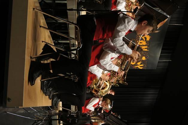 Die Trompeter in Aktion.