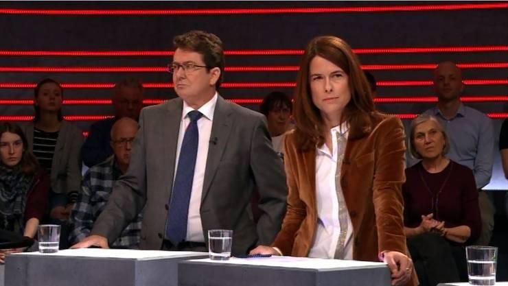 Albert Rösti und Petra Gössi können ihre Argumente für eine nachhaltige Klimapolitik wenig überzeugend vorbringen