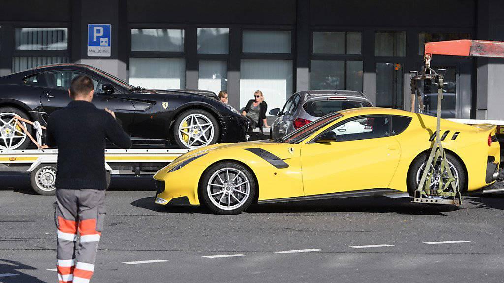 Die Beschlagnahmung von elf Wagen der gehobenen Preisklasse in Genf sorgte im November für weltweites Aufsehen. Die Autos sollen dem Präsidentensohn Äquatorialguineas gehören. (Archivbild)