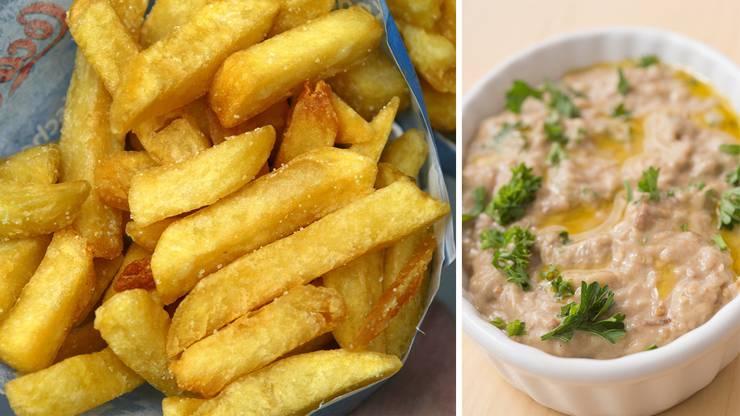 «Baba Ghanoush» (rechts) oder doch lieber Pommes frites? Billig ist beides nicht.