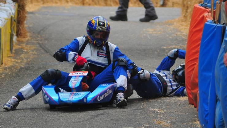 Der Italiener Marco Brizzi riskierte zu viel und verlor seinen Beifahrer Davide Catone
