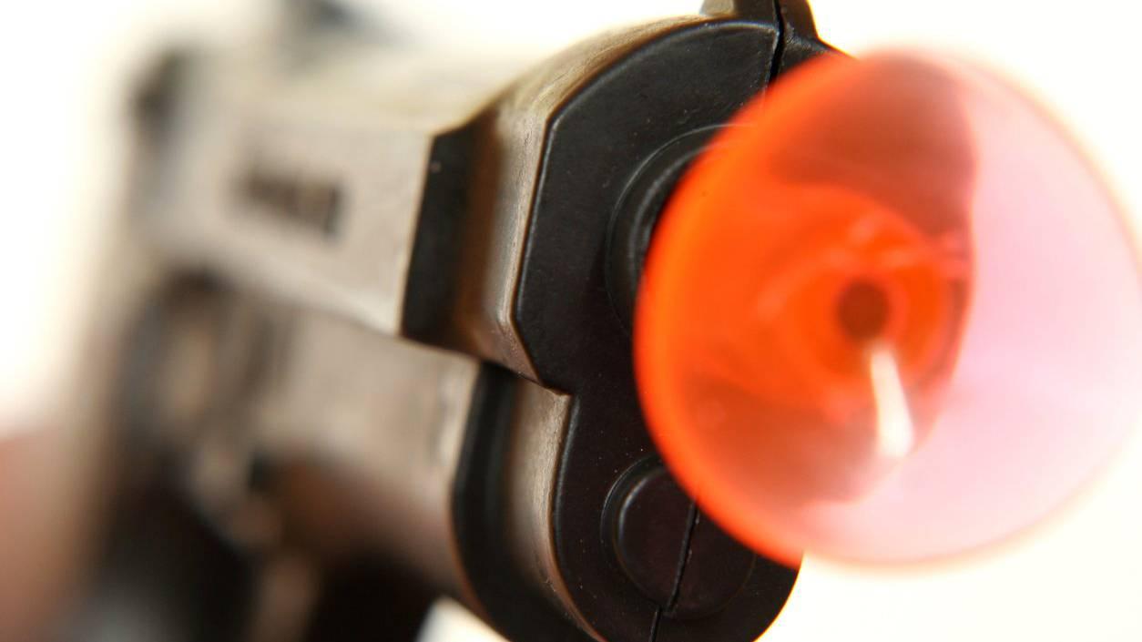 Der Täter war mit einer Spielzeugpistole bewaffnet